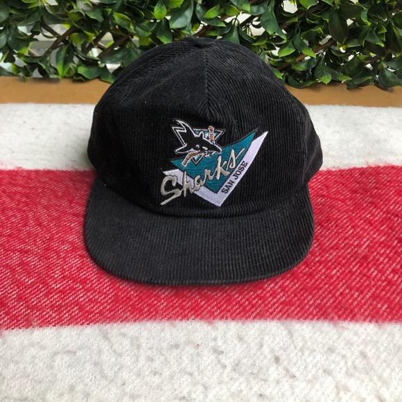 Vintage San Jose Sharks corduroy hat